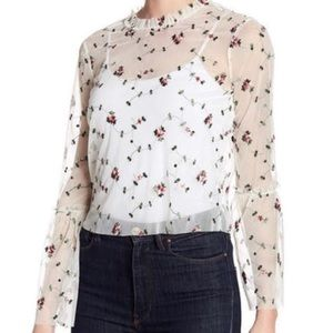 Sheer Embroidered Top  🌸